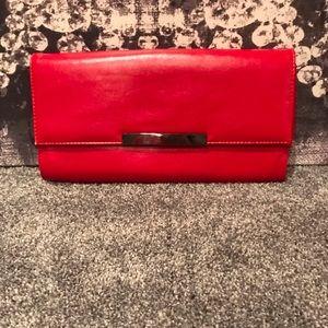 🆕Sondra Roberts Red Clutch/Chain Shoulder Bag